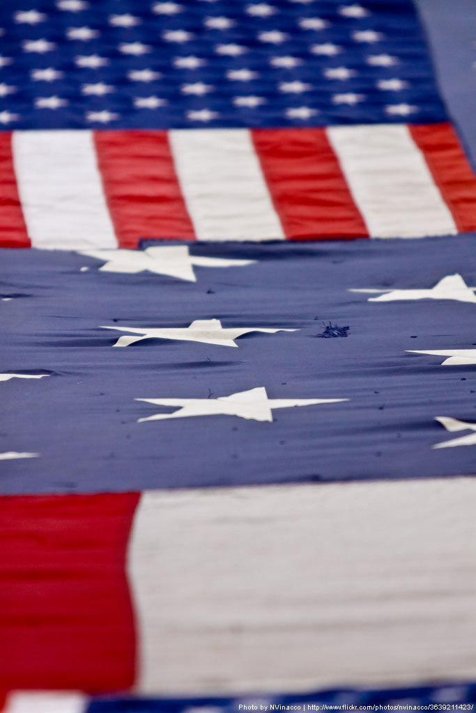 National 9/11 Flag | Photo by NVinacco