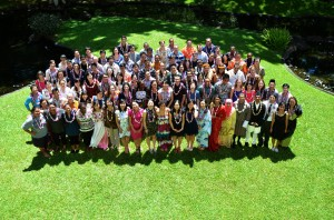 2014 incoming East-West Center students. Photo courtesy of East-West Center.
