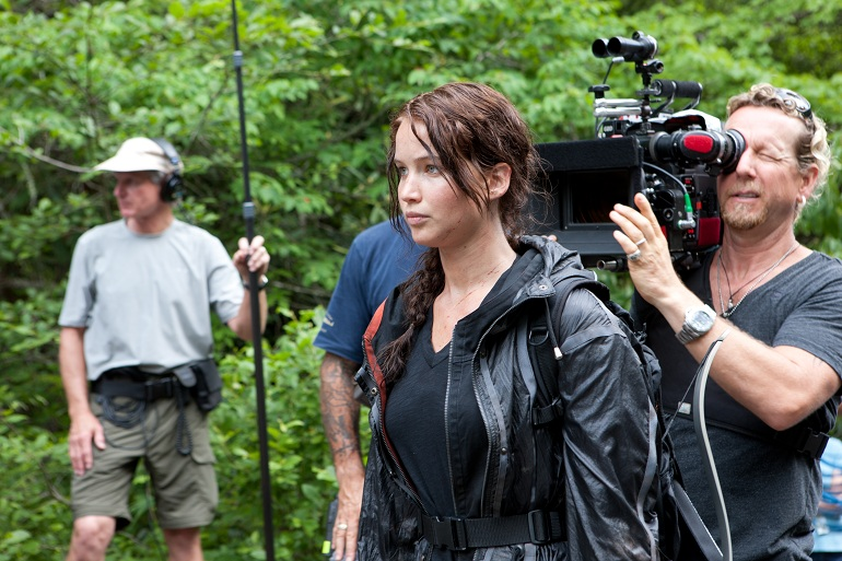 Promotional photo from the filming of 'The Hunger Games' in September 2011.